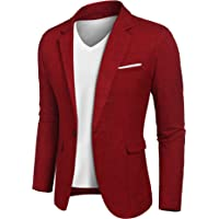 JINIDU Men's Casual Sports Coats One Button Smart Slim Fit Suit Blazer Jacket