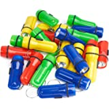 THE TWIDDLERS - 24 Mini Torch / Flashlight Keychains - Assorted Colours