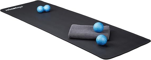Relaxdays Yogamatte gepolstert, 1 cm dicke Übungsmatte, Für Pilates, Aerobic, Gymnastik, HBT: 1 x 61,5 x 182 cm