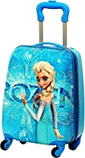 GOCART Frozen Pattern Hard Shell Blue Suitcase/ Trolley Bag for Girls and Boys