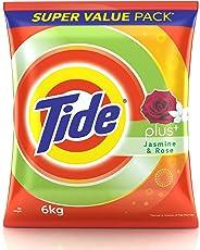 Tide Plus Detergent Powder - 6 kg (Jasmine and Rose)