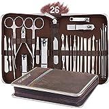 AUTENPOO - Kit 26 in 1 professionale per manicure e pedicure, strumenti funzionali per pedicure e manicure con tagliaunghie p