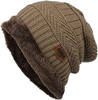 Iiloens Frauen Mann Art und Weisevlies Kontrast Farben Beanie gestrickte warme Winter Mütze Strickmützen