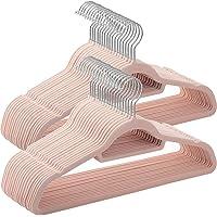 SONGMICS Cintres en Velours, Lot de 50, antidérapants, épaisseur 0,6 cm, Gain de Place, Crochet pivotant à 360…