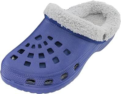 Men's clogs, lined slipper shoes, garden shoes.