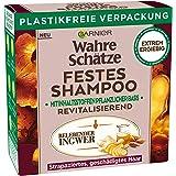 Garnier Festes Shampoo, Belebender Ingwer, mit Bio-Ingwer, revitalisiert strapaziertes Haar, biologische abbaubare Formel, ve