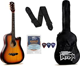 Intern INT-38C Acoustic Guitar Kit, Sunburst