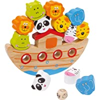 """Small Foot 2490 """" Balancier «Arche» """", jeu d'équilibre en bois avec design de l'Arche de Noé, jeu de motricité avec dés…"""