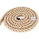15m jute touw 6mm hekwerk koord gedraaid 3-streng natuurlijk