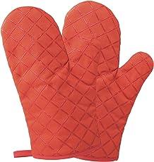 Homever Ofenhandschuhe,Hitzebeständige Handschuhe bis zu 260℃,Silikon Anti-Rutsch Grillhandschuhe, Geeignet für Kochen, Backen, Grillen,Topfhandschuhe,1 Paar