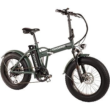 """Tucano Bikes Monster 20 - Bicicleta Eléctrica Plegable Fat Bike 20"""" - Motor: 500W - con Display LCD con 9 Niveles de Ayuda en Color Verde Mate"""