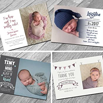 839dca909c71 New Baby Thank You Cards with own Photo and Text (30)  Amazon.co.uk ...