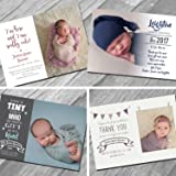 New Baby Thank You Cards with own Photo and Text (20)