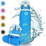 sport2people Silikon Faltbare Wasserflasche 1 L - Medizinische Qualität Aufrollen Trinkflasche, BPA Free - Sportsflasche…