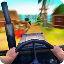Driving in Tractor Simulator