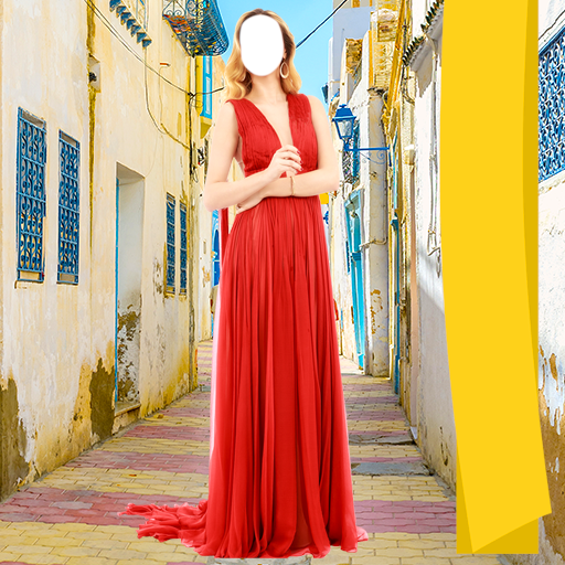 Woman Long Dress Photo Camera -