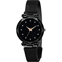 Talgo Analog Women's Watch (Black Dial, Black Colored Strap)