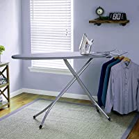 Zemic International Quality Ironing Board/Iron Table Stand with Press Holder, Foldable & Height Adjustable/Ironing Board…