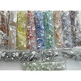 Happy-Mosaic Mosaiksteine Bruchmosaik Set 2400g mit 12 Unifarben à 200g Glasmosaiksteine zum Basteln