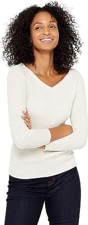 State Cashmere Donna 100% Puro Cashmere A Scollo Profondo Pullover Manica a 3/4