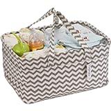 Hinwo Baby Diaper Caddy 3-Compartment Infant Nursery Tote Storage Bin Portable Car Organizer Newborn Shower Gift Basket…