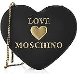 Love Moschino Damen Borsa a Spalla da Donna Schultertasche, Kollektion Herbst Winter 2021, Schwarz, Einheitsgröße