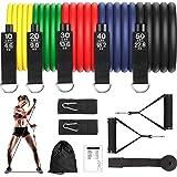 GRDE Elastici Fitness Fasce Elastiche Fitness Uomo Donna con 5 Livelli di Resistenza Bande Elastiche Resistenza di Lattice Na