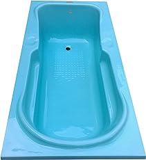 MADONNA Rex Rectangular Acrylic 5. 5 feet Bath Tub - Cyan Blue