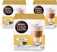 Nescafe Dolce Gusto Vanilla Latte Machiato Coffee Capsules, 16Cap x 3, 188.4g each box