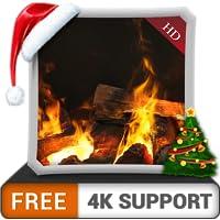 chimenea de deslumbramiento HD gratis: disfrute del invierno con una hermosa chimenea caliente en vacaciones de Navidad en su hdr 4k tv, 8k tv y dispositivos de fuego como fondo de pantalla y tema par