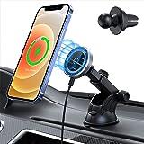 Hinyx 15W Caricatore Wireless Auto Compatibile con Mag-Safe, Supporto Telefono Auto Magnetico, Ricarica Wireless Auto Solo pe