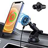 Hinyx Mag-Safe Car Mount Charger 15W Magnetic Wireless Car Charger Holder, Magnet Car Phone Dock Compatible with iPhone…