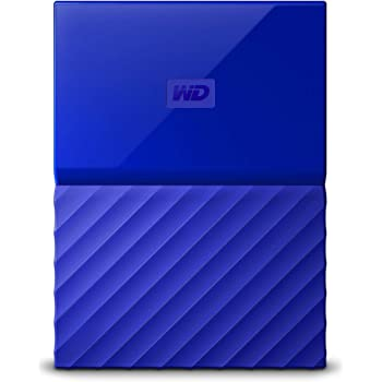 WD My Passport 1 TB Portable Hard Drive and Auto Backup Software for PC, Xbox One and PlayStation 4 - Blue