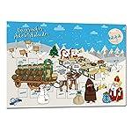 Bayerischer Schoko Adventskalender 2018, hochwertiger Druck auf stabilem Karton, mit Vollmilchschokolade befüllt, für die...