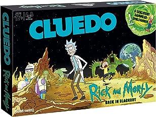 Cluedo Rick & Morty Detektivspiel der Welt Trifft auf die Bunte Zeichentrickwelt von Wissenschaftler Rick und seinem Enkel Morty, (Deutsch)