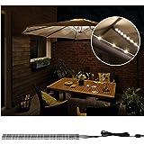 Paulmann 942.08 Outdoor Mobile Parasol-Lighting IP44 3000 K 4 X 0,4 m Lampada Decorativa per ombrellone Strisce LED 0.1…