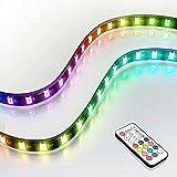 EZDIY-FAB Bandes de LED RGB adressables magnétiques pour Ordinateur avec contrôleur (Compatible avec ASUS Aura Sync et MSI My