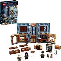 LEGO 76385 Harry Potter Poudlard : Le Cours de sortilèges, Cours de Magie, Livre de Collection, Mallette de Voyage, Jeu…