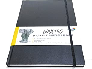 Brustro Artists' Sketch Book Stitched Bound A4-110 GSM , 160 pages Acid free