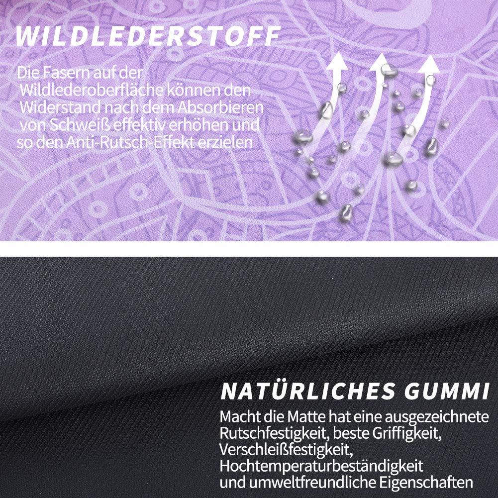 Gummi und Wildleder Basics Yoga-Matte