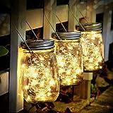SENYANG Lampada Solare - 3 Pezzi Lanterne da Esterno con 30 LED Impermeabile Luci Solari Giardino Luci del Barattolo per da I