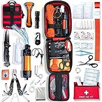 Baytiz | Survival Kit + Erste Hilfe Set - mit Wasserfilter Strohhalm und Outdoor Ausrüstung - Zubehör Camping Wandern…