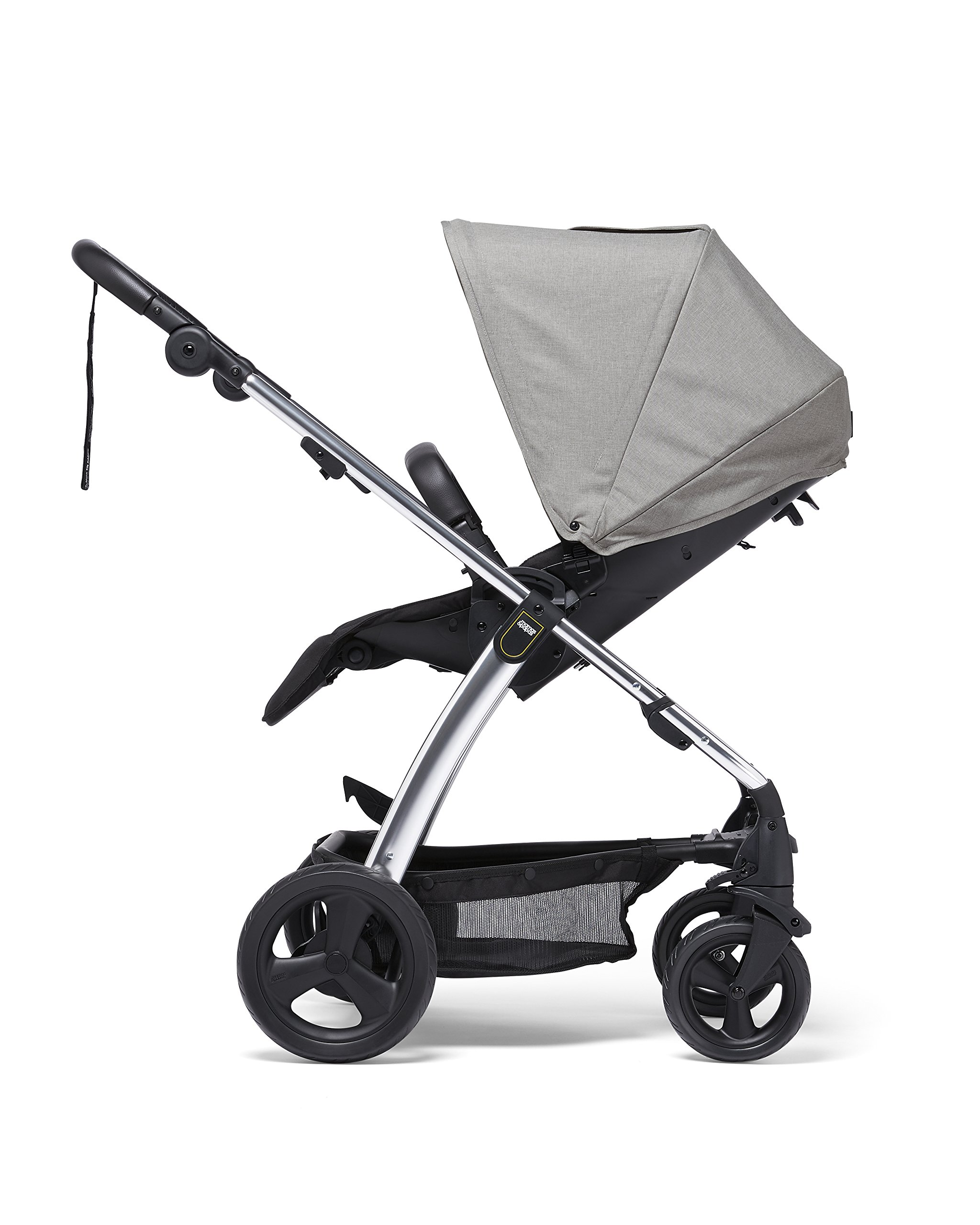 Mamas & Papas Sola² Lightweight Pushchair with Dual Position Seat, Compact Fold & Dual Suspension Wheels - Light Grey Mamas & Papas Great stearability - front and rear suspension wheels ensure a smooth ride for baby's travels. The wheels are also lockable for your peace of mind Large canopy - the large upf 50+ hood protects against harmful rays and a magnetic window lets you check on baby. Attach the included rain cover for drizzly days Dual position - baby can face you or the world to suit them. Adjust the seat to the lie-flat position for a comfortable space for your little one to sleep 3