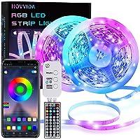 LED Strip, HOVVIDA 20M Bluetooth LED Streifen RGB 5050 12V, Wird von APP, IR-Fernbedienung und Controller Gesteuert, LED…