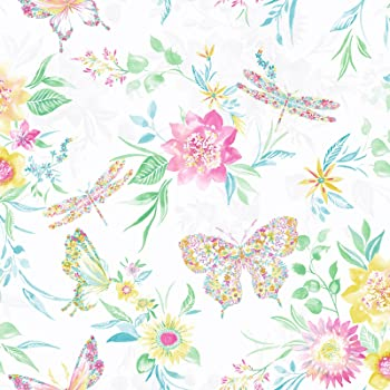 Tropical Flowers Luxury Floral Design Carmen Silver M1346 Wallpaper Crown