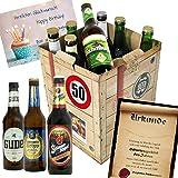 Geburtstagsgeschenke für Männer zum 50. - Bier Box + Biergeschenk Geschenkideen