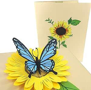Carte de Vœux-deux papillons-blanc TOUTE OCCASSION