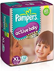 Pampers Active Baby Extra Large Size Diapers (32 Count)