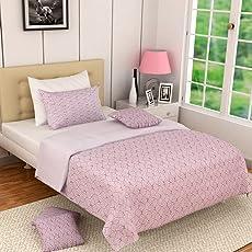 Linenwalas 144 TC 100% Premium Cotton Printed King/Double Reversible Dohar Ac/Comforter