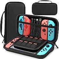 HEYSTOP Tasche Kompatibel mit Nintendo Switch, Nintendo Switch Tragetasche mit Mehr Platz, Schutzhülle Hülle Case für…